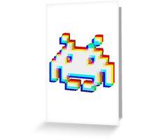 Corrupt Invader Greeting Card