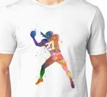 american football player man catching receiving Unisex T-Shirt