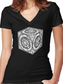 """TARDIS """"Siege Mod"""" - Doctor Who Women's Fitted V-Neck T-Shirt"""