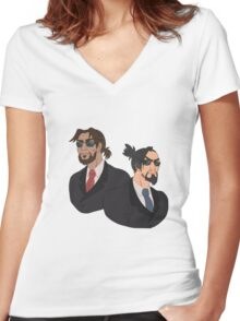 McHanzo-Bodyguards  Women's Fitted V-Neck T-Shirt