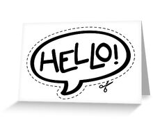 Yo!Cards - Hello! Greeting Card