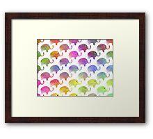 Parade Of Elephants Framed Print