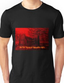 A Dracula Halloween Abbey invitation to a party Unisex T-Shirt