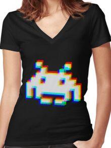 Corrupt Invader Women's Fitted V-Neck T-Shirt