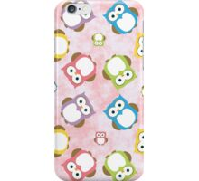 Colorful Owls - Green Blue Purple Yellow  iPhone Case/Skin