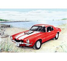Z-28 Camero at the lake Photographic Print