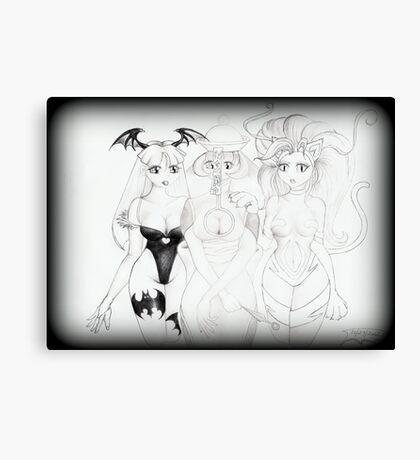 Darkstalker trio 8x10 sketch Canvas Print
