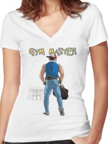 Gym Master Women's Fitted V-Neck T-Shirt