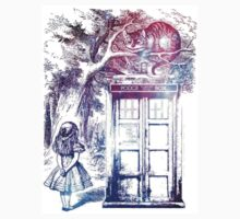 cat wonderland tardis  Baby Tee