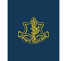 IDF Israel Defense Forces - with Symbol Photographic Print