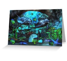 Dolphin's Under The Sea  2 Greeting Card