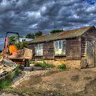 West Mersea Oyster Shed by Nigel Bangert
