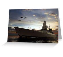 Naval Warfare Greeting Card