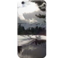 Break in the Clouds at the Upper Truckee River iPhone Case/Skin