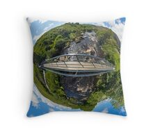 Footbridge over Glen River, Carrick, SW Donegal Throw Pillow