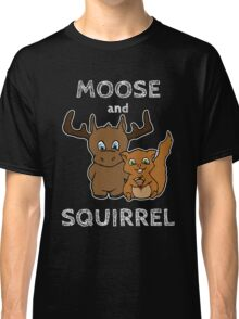 Moose and squirrel with text Classic T-Shirt