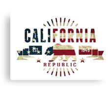 California Stars and Stripes Canvas Print