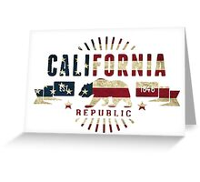 California Stars and Stripes Greeting Card