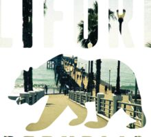 California pier Sticker
