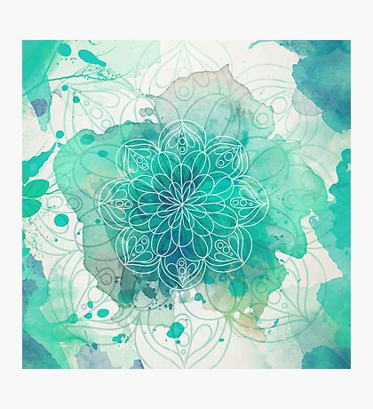 Watercolor Mandala Photographic Print
