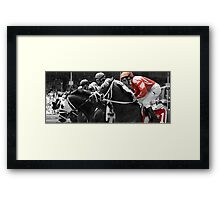 red jockey Framed Print