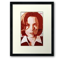 Dana Scully - The X-Files Framed Print