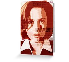 Dana Scully - The X-Files Greeting Card