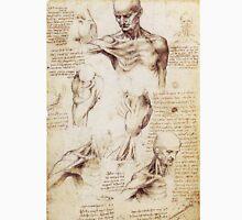 Shoulder and Neck sketches by Leonardo Da Vinci Unisex T-Shirt