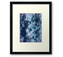 Ocean Waves Photograph Design Framed Print
