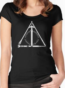 Geeky Hallows Women's Fitted Scoop T-Shirt