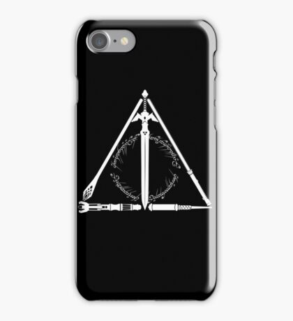 Geeky Hallows iPhone Case/Skin