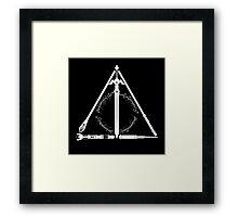 Geeky Hallows Framed Print