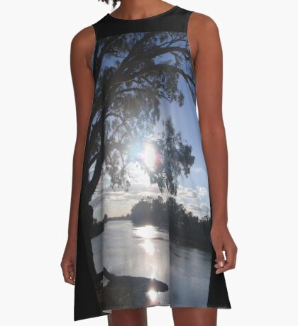 Sunset on the Murray A-Line Dress