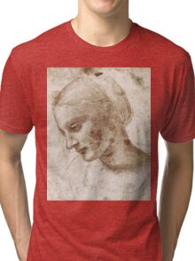 Study of a Woman by Leonardo Da Vinci Tri-blend T-Shirt