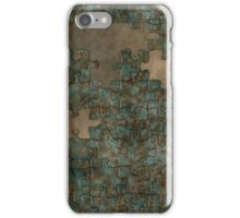 Puzzle oxidized metal iPhone Case/Skin