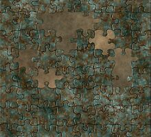 Puzzle oxidized metal by Roberta Angiolani