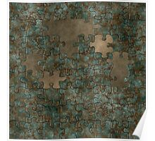 Puzzle oxidized metal Poster