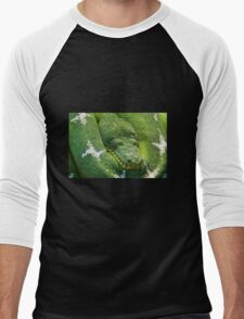 Green Python Men's Baseball ¾ T-Shirt