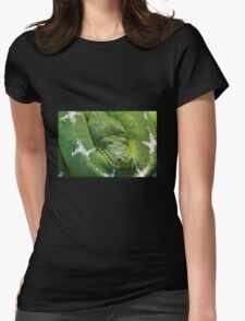 Green Python Womens Fitted T-Shirt