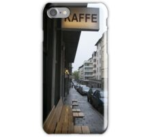 Steig Larsson Stockholm Street Cafe Photo iPhone Case/Skin