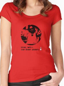 The Dude Abides. Women's Fitted Scoop T-Shirt