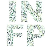 INFP Word Cloud Photographic Print