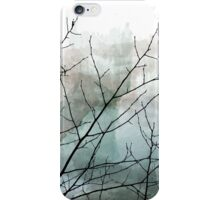 Gray Watercolor & Black Branches iPhone Case/Skin