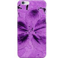 White Beauty in Purple iPhone Case/Skin
