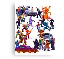 Badass 80's  Battle Canvas Print