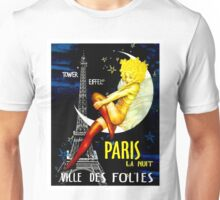 """PARIS"" Vintage Follies Travel Print Unisex T-Shirt"