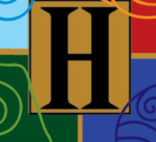 Avatar Element Hogwarts Shield Sticker