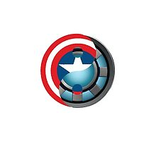 Arc Reactor/ Captain America Shield Yin Yang by Zac Reynolds