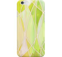 Lemon & Lime Love - abstract painting in yellow & green iPhone Case/Skin