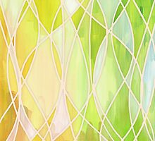 Lemon & Lime Love - abstract painting in yellow & green by micklyn